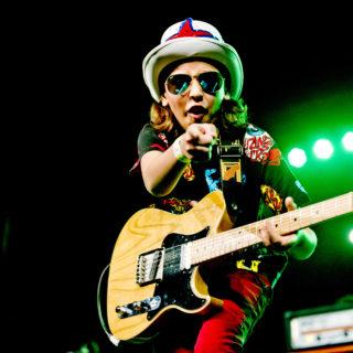 Nederland, Amsterdam, 25-11-2014. Concert van Rayan Vroon tijdens de SENA European Guitar Awards. Foto: Andreas Terlaak